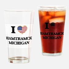 I love Hamtramck Michigan Drinking Glass