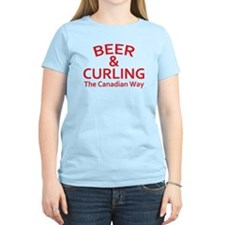 Beer and Curling T-Shirt