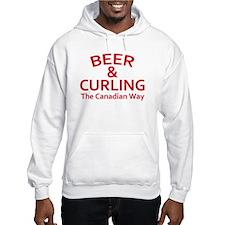 Beer and Curling Hoodie