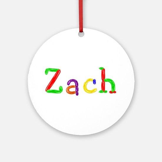 Zach Balloons Round Ornament