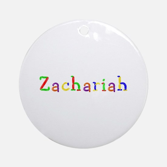 Zachariah Balloons Round Ornament