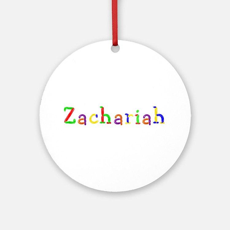 Zachariah Balloons Round Ornament