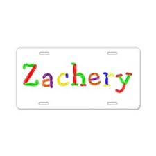 Zachery Balloons Aluminum License Plate
