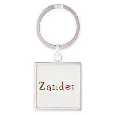 Zander Balloons Square Keychain