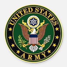 U.S. Army: Army Symbol Round Car Magnet