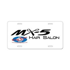MX5 Hair Salon Aluminum License Plate