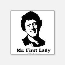 "Cool Madame president Square Sticker 3"" x 3"""
