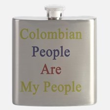 Colombian People Are My People  Flask