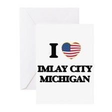 I love Imlay City Michigan Greeting Cards