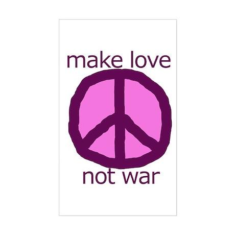Make love. Not war. Rectangle Sticker