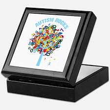 Autism Rocks Keepsake Box