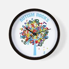 Autism Rocks Wall Clock