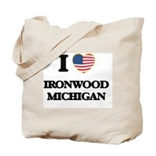 I love Ironwood Michigan Tote Bag