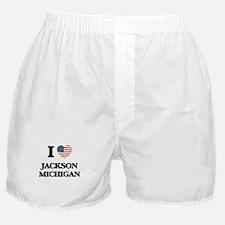 I love Jackson Michigan Boxer Shorts