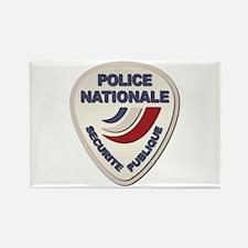 Police Nationale France Police wi Rectangle Magnet