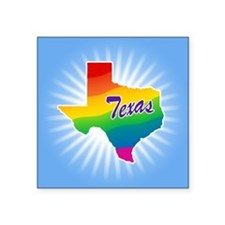 "Rainbow State Square Sticker 3"" x 3"""