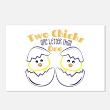 Two Chicks Postcards (Package of 8)