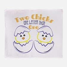 Two Chicks Throw Blanket