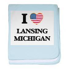 I love Lansing Michigan baby blanket
