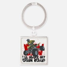 ATV My Own Road Square Keychain