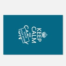 Keep Calm and Show Your Work Postcards (Package of