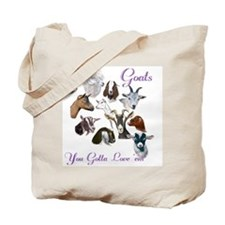 Nubian Goat Gotta Love 'em Tote Bag