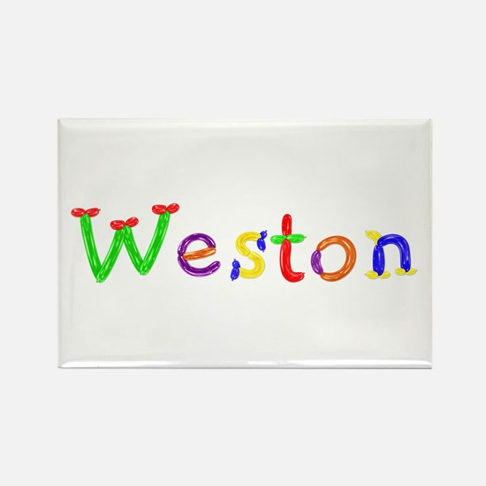 Weston Balloons Rectangle Magnet