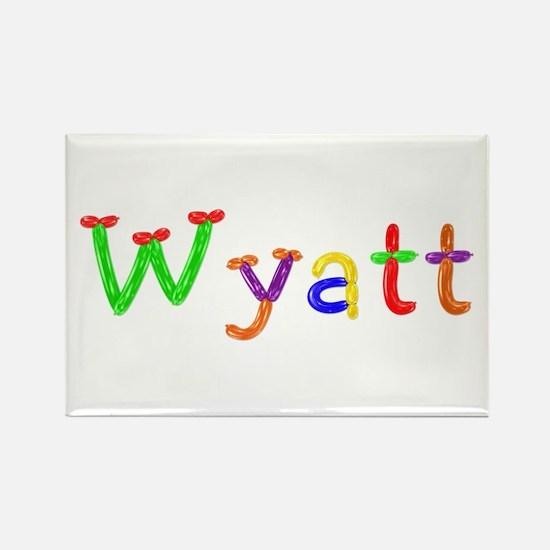 Wyatt Balloons Rectangle Magnet