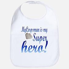 my corpsman is my super hero Bib