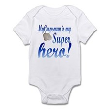 my corpsman is my super hero Infant Bodysuit