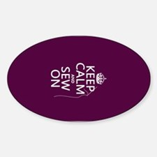 Keep Calm and Sew On Decal