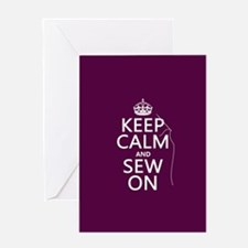 Keep Calm and Sew On Greeting Cards