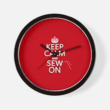 Keep Calm and Sew On Wall Clock