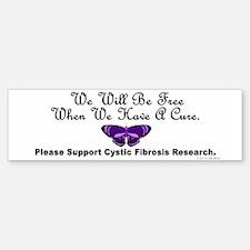 Butterfly Cystic Fibrosis Bumper Bumper Bumper Sticker