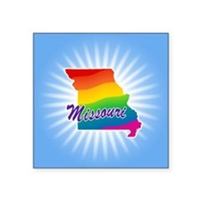 "Rainbow State Square Sticker 3"" x 3"""