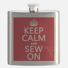 Keep Calm and Sew On Flask