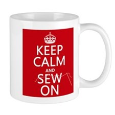 Keep Calm and Sew On Mugs