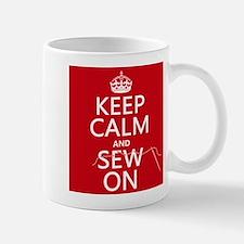 Keep Calm and Sew On Mugs