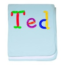 Ted Balloons baby blanket