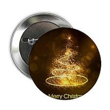 "Cute Fractal christmas tree 2.25"" Button"