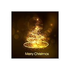 "Unique Fractal christmas tree Square Sticker 3"" x 3"""