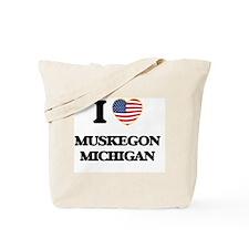 I love Muskegon Michigan Tote Bag