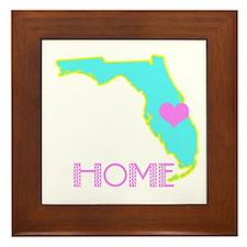 Florida State Shape Framed Tile