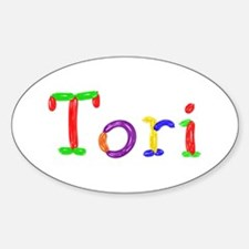 Tori Balloons Oval Decal