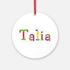 Talia Balloons Round Ornament
