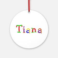 Tiana Balloons Round Ornament