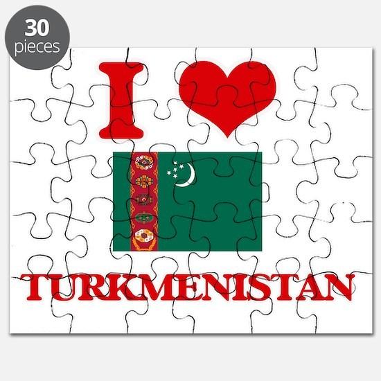 I Love Turkmenistan Puzzle