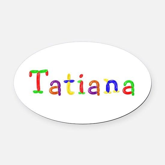 Tatiana Balloons Oval Car Magnet