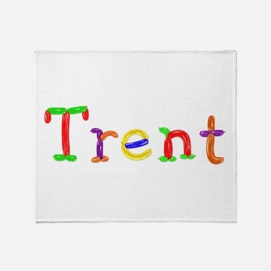 Trent Balloons Throw Blanket