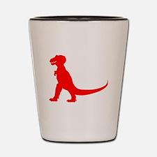 Tyrannosaurus Rex Silhouette (Red) Shot Glass